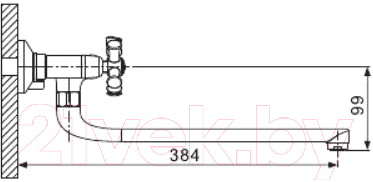 Смеситель Gappo G2242-2