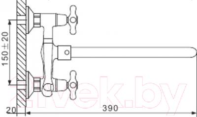 Смеситель Gappo G2263
