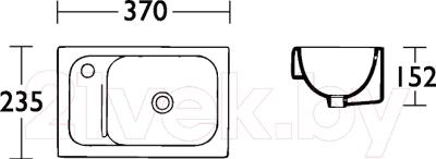 Умывальник накладной IDO Мiniara 1155001101