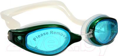 Очки для плавания Sabriasport G836A (голубой/зеленый)