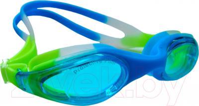 Очки для плавания Sabriasport G891 (голубой/желтый)