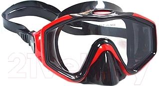 Маска для плавания Ricky M153P (черный/бордовый)