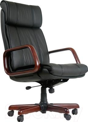 Кресло офисное Chairman 419 (черный, кожа)