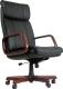 Кресло офисное Chairman 419 (черный, кожа) -
