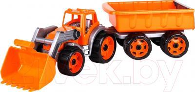 Детская игрушка ТехноК Трактор с  ковшом и прицепом 3688