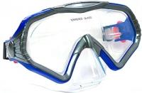 Маска для плавания Ricky M160S (синий/серый) -