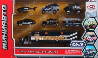 Набор игрушечных автомобилей Play Smart Миниавто Полиция 6385