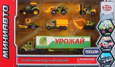 Набор игрушечных автомобилей Play Smart Миниавто Сельхозтехника 6385