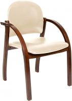 Кресло офисное Chairman 659 (Terra 101, беж матовый/темн.орех) -