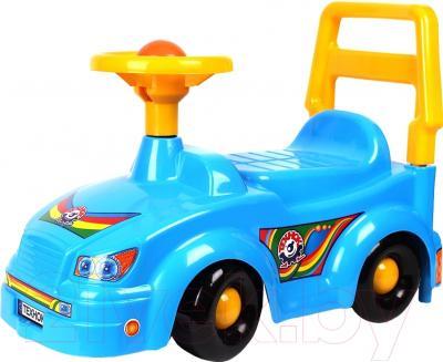 Каталка детская ТехноК Автомобиль для прогулок 2483 (синий)