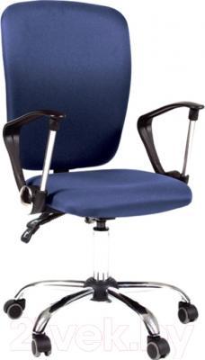 Кресло офисное Chairman 9801 (синий/хром)