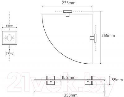 Полка для ванной Bemeta 132102012