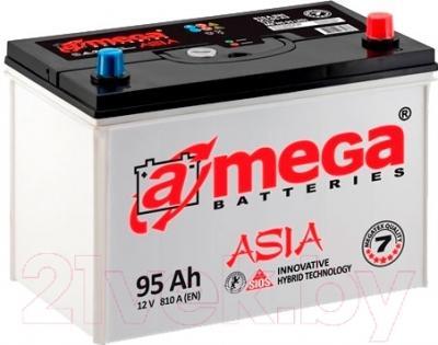 Автомобильный аккумулятор A-mega Asia 95 JR New (95 А/ч)