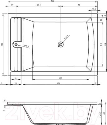 Ванна акриловая Riho Savona 190 (BB79005)