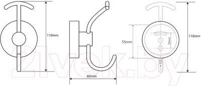 Крючок для ванны Bemeta 104105252