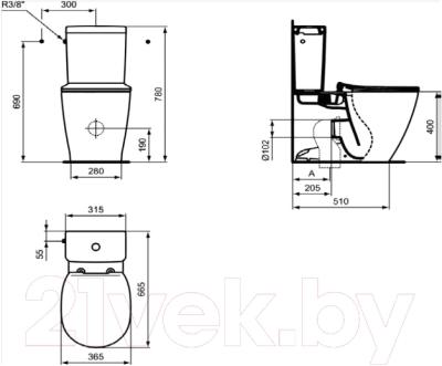 Унитаз напольный Ideal Standard Connect AquaBlade E039701