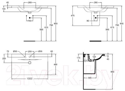 Умывальник Ideal Standard Connect E812601