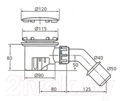Сифон для душевого поддона Ideal Standard Tempoplex K7817AA