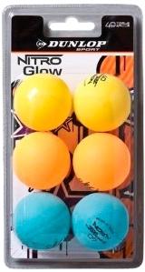 Мячи для настольного тенниса DUNLOP Nitro Glow Funball 679213