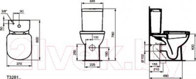 Унитаз напольный Ideal Standard Tempo T328101 - схема