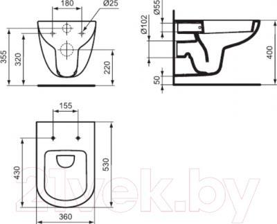 Унитаз подвесной Ideal Standard Tempo T331101