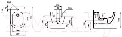 Биде подвесное Ideal Standard Tesi T355201