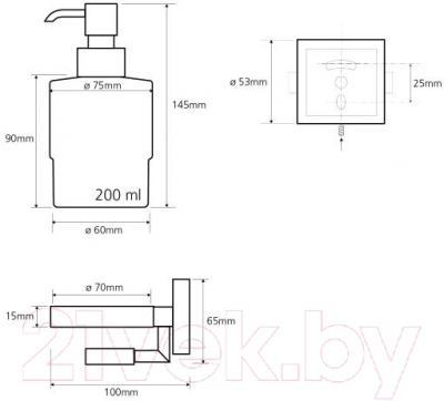 Дозатор жидкого мыла Bemeta 132109182