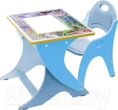 Стол+стул Интехпроект Зима-Лето 14-396 (голубой/сизый)