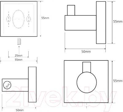 Крючок для ванны Bemeta 132106022