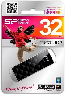 Usb flash накопитель Silicon Power Ultima U03 32GB (SP032GBUF2U03V1K)