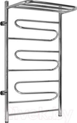 Полотенцесушитель водяной АРГО Ривьера 50x100 с полкой (боковое подключение, левое)