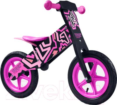 Беговел Toyz Zap (черно-розовый)