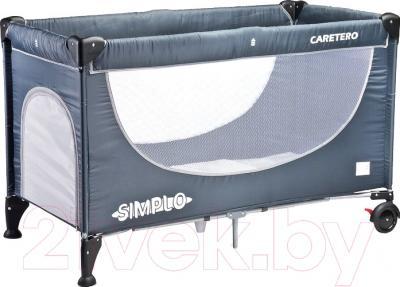 Кровать-манеж Caretero Simplo (серый)