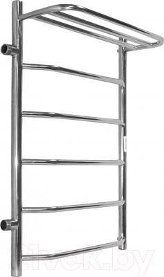 Полотенцесушитель водяной АРГО Флоран 50x80 с полочкой (боковое подключение, левое)