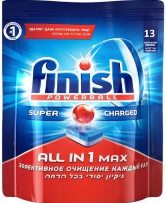 Таблетки для посудомоечных машин Finish All in One Max (13шт)