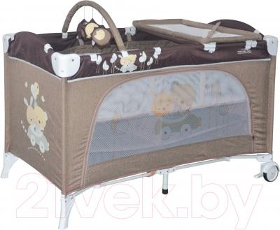 Кровать-манеж Lorelli Travel Kid 2 Rocker (Beige Travelling)