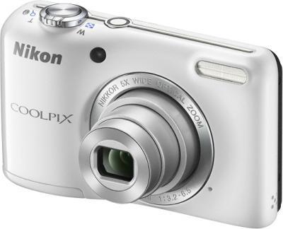 Компактный фотоаппарат Nikon Coolpix L27 White - общий вид
