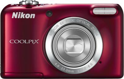 Компактный фотоаппарат Nikon Coolpix L27 Red - общий вид
