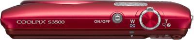 Компактный фотоаппарат Nikon Coolpix S3500 Red - вид сверху