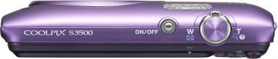 Компактный фотоаппарат Nikon Coolpix S3500 Purple - вид сверху