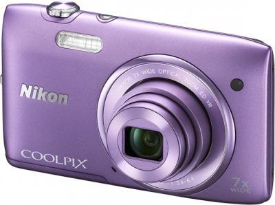 Компактный фотоаппарат Nikon Coolpix S3500 Purple - общий вид