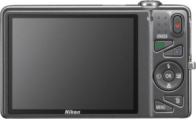 Компактный фотоаппарат Nikon Coolpix S5200 Silver - вид сзади