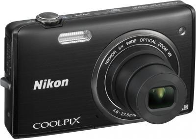 Компактный фотоаппарат Nikon Coolpix S5200 Black - общий вид