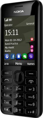 Мобильный телефон Nokia Asha 206 (Black) - общий вид