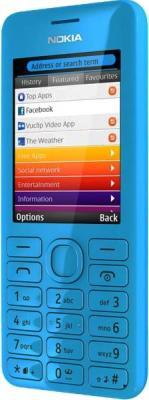 Мобильный телефон Nokia Asha 206 (Cyan) - общий вид