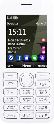 Мобильный телефон Nokia Asha 206 Dual White - общий вид