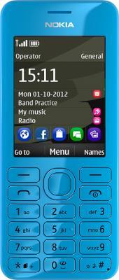 Мобильный телефон Nokia 206 (голубой) - общий вид