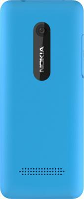 Мобильный телефон Nokia 206 (голубой) - задняя крышка
