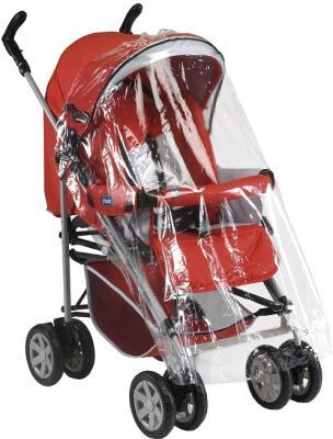 Детская прогулочная коляска Chicco Enjoy Fun (Coal) - дождевик (цв. Garnet)