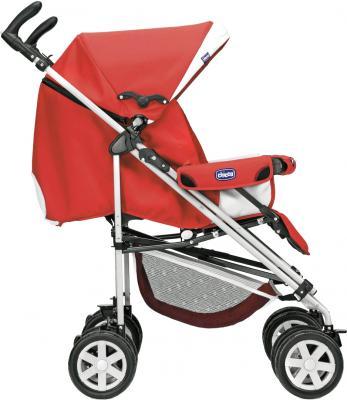 Детская прогулочная коляска Chicco Enjoy Fun (Coal) - вид сбоку (цв. Garnet)